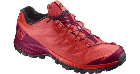 Salomon Outpath GTX Hiking Shoes Women Poppy Red/Sangria/Black